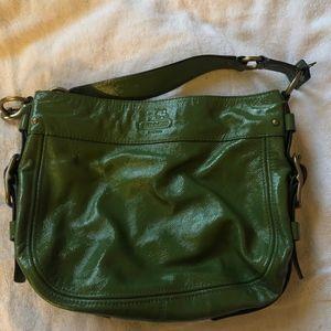Coach green Patten Leather hobo bag